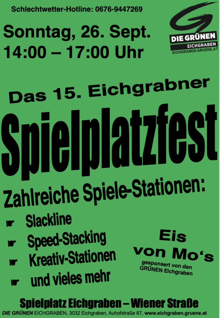 Spielplatzfest September 2021