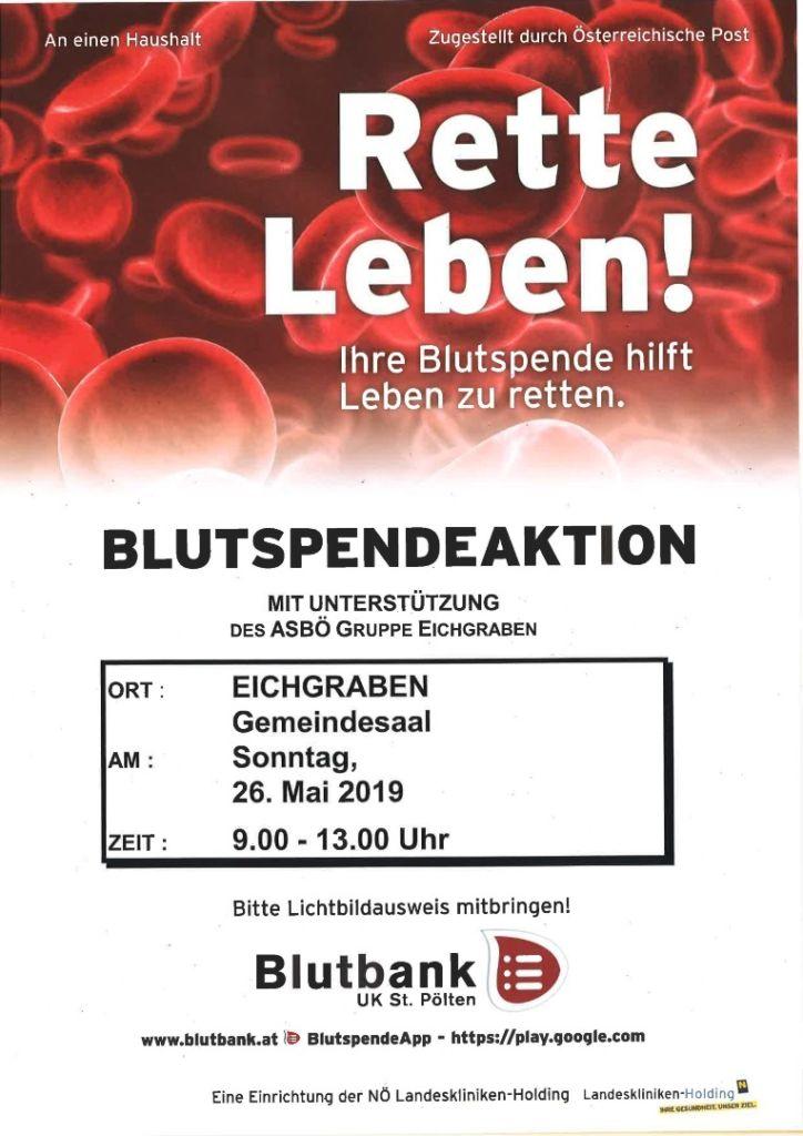 Blutspenden Mai 2019