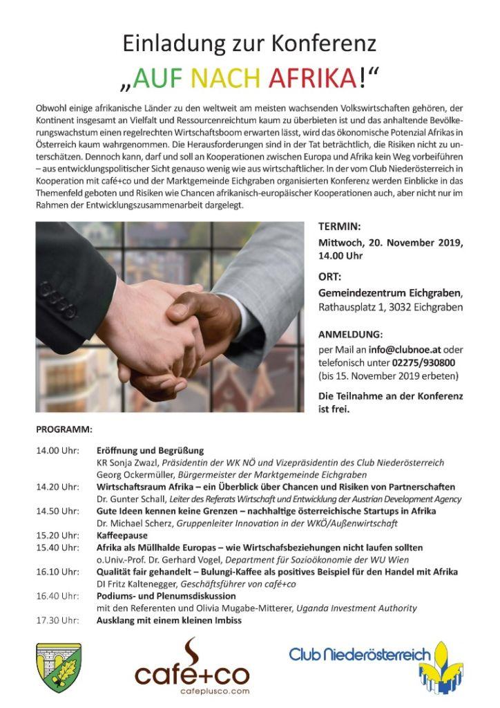 Einladung Afrika Konferenz