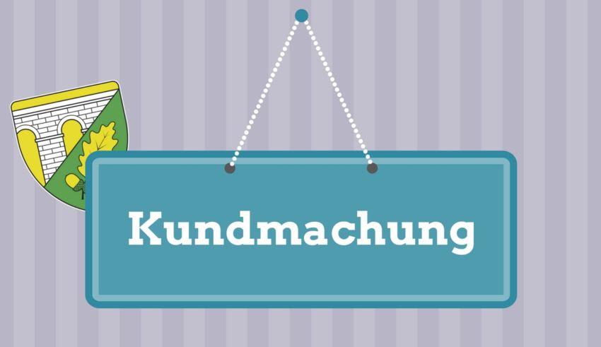 Kundmachung
