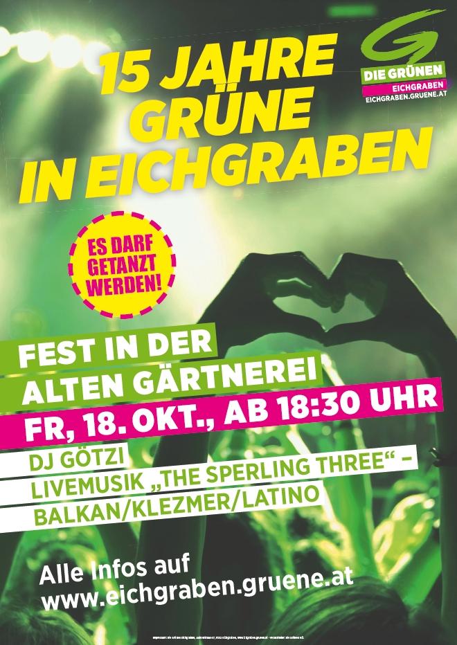 Plakat 15 Jahre Grüne Eichgraben