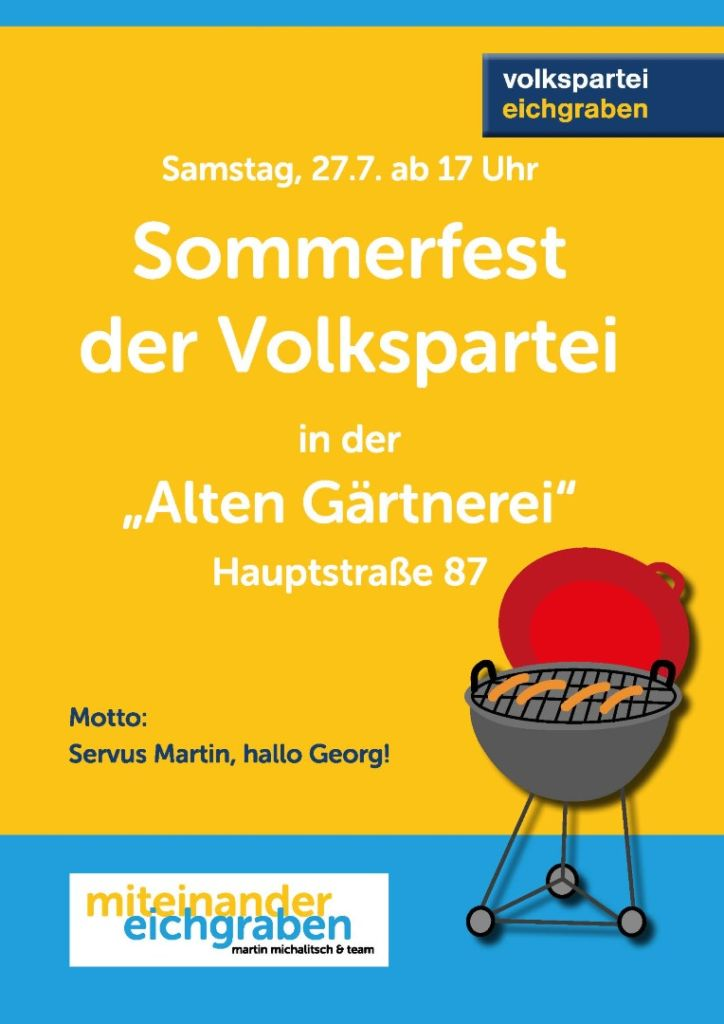 Sommerfest Plakat Internetversion