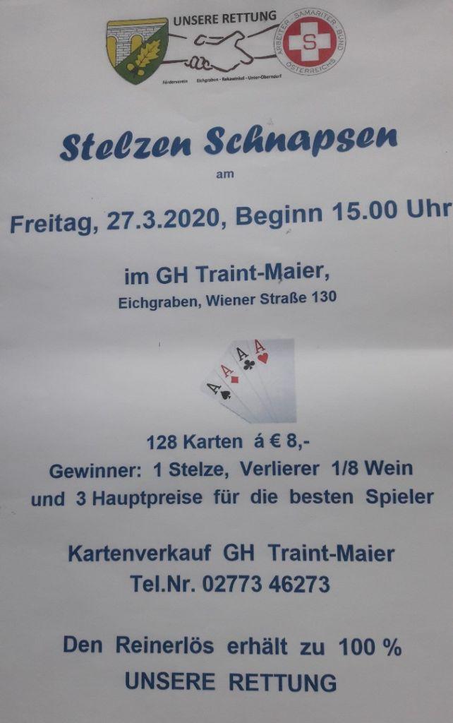 Stelzen Schnapsen Poster