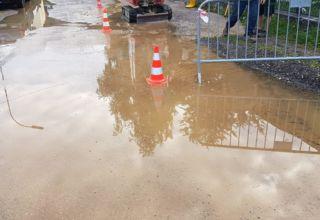 Wasserrohrbruch Fichtenstraße
